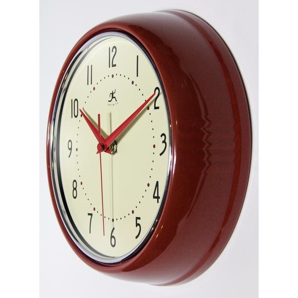 Shop Round Retro 9.5 inch Kitchen Vintage 50s Wall Clock by ...