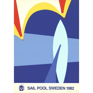 Franco Costa 'Sail Pool Sweden-1982' 37.25 x 27.5-inch Signed Serigraph