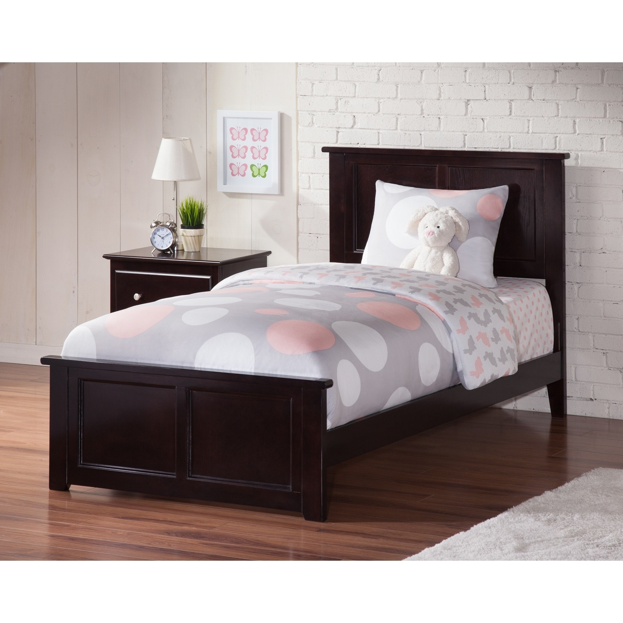 - Shop Atlantic Madison Espresso Twin XL Bed With Matching Footboard