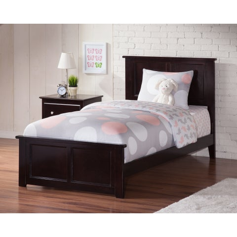 Atlantic Madison Espresso Twin XL Bed with Matching Footboard