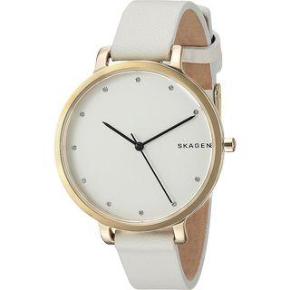 Skagen Women's SKW2578 'Hagen' Crystal White Leather Watch