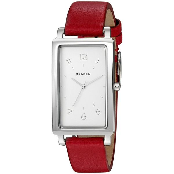 d776d4dc4b8e Shop Skagen Women s SKW2568  Hagen  Red Leather Watch - Free Shipping Today  - Overstock - 14309417