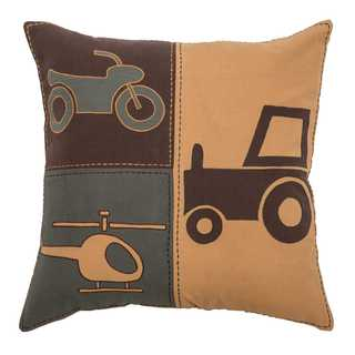 Rizzy Home Transportation Cotton 18-inch x 18-inch Decorative Filled Throw Pillow