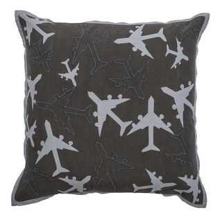Rizzy Home Planes 18-inch x 18-inch Cotton Decorative Filled Throw Pillow