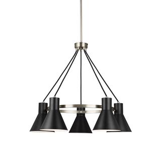 Sea Gull Towner 5 Light Brushed Nickel Chandelier