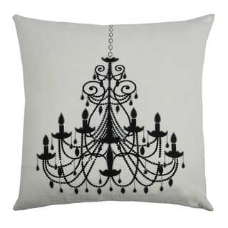 Rizzy Home Black and White Cotton Chandelier Throw Pillow