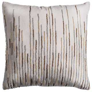 Rizzy Home Off-white Cotton Decorative Throw Pillow (18 x 18)