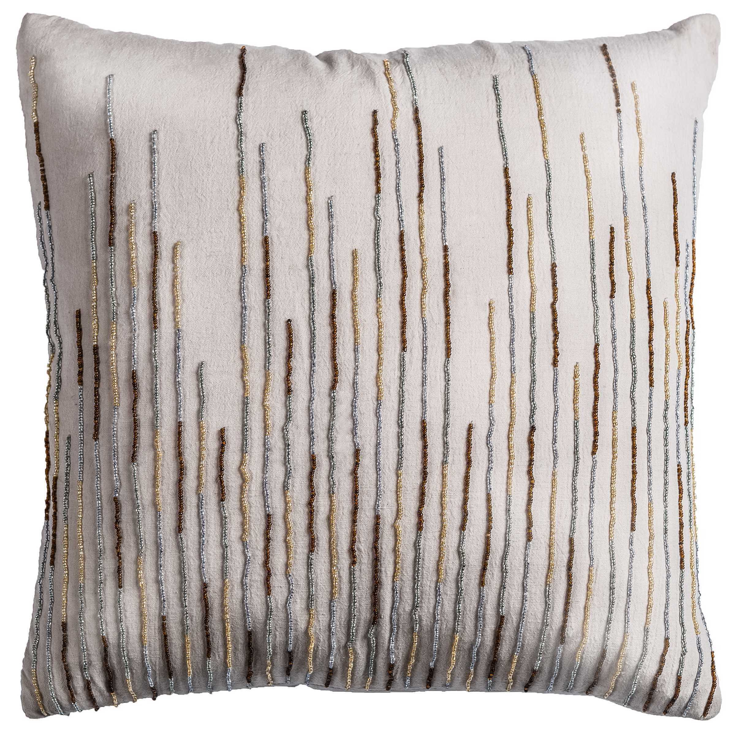 Rizzy Home Off White Cotton Decorative Throw Pillow 18 X 18 Overstock 14309526