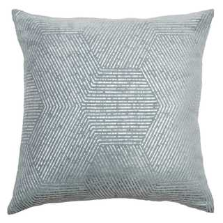 Rizzy Home Grey Cotton 20-inch x 20-inch Impressionistic Hexagon Decorative Throw Pillow