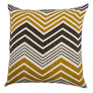 Rizzy Home Multicolored Cotton 18-inch x 18-inch Chevron Decorative Throw Pillow