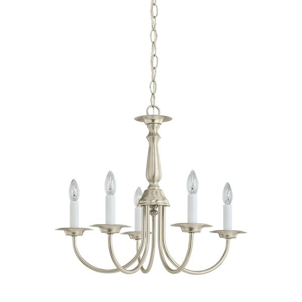 Sea Gull Lighting Reviews: Shop Sea Gull Traditional 5 Light Brushed Nickel