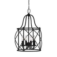 Sea Gull Turbinio 4 Light Blacksmith Hall Foyer Fixture