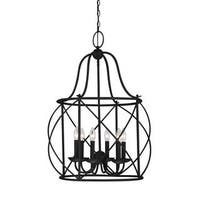 Sea Gull Turbinio 6 Light Blacksmith Hall Foyer Fixture