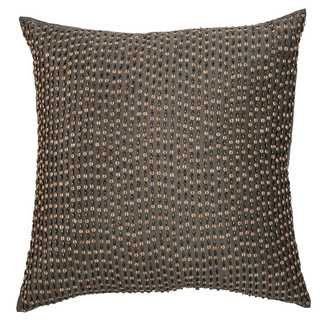 Rizzy Home Grey Beaded Decorative Throw Pillow