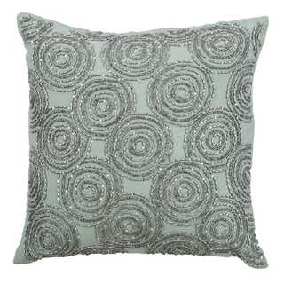 Rizzy Home Circular Geometric Blue Cotton 18-inch x 18-inch Decorative Filled Throw Pillow