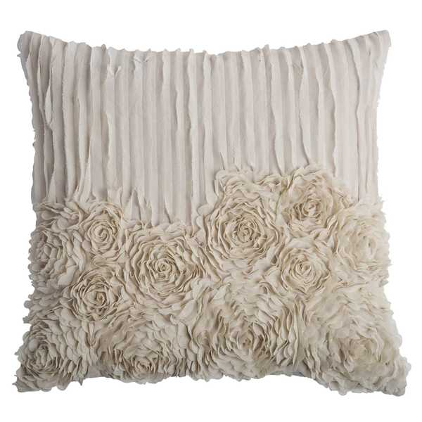 Shop Rizzy Home Flowers And Flourish 20 Inch X 20 Inch