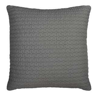 Rizzy Home Solid Grey Cotton Decorative Filled 22 x 22 Throw Pillow