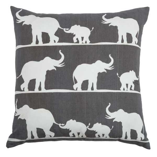 Rizzy Home Elephants Cotton Decorative Throw Pillow