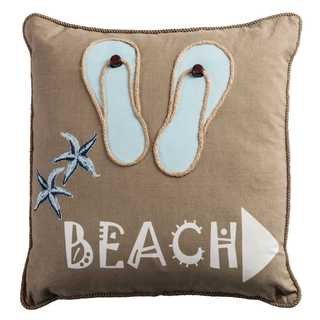 Rizzy Home Beach Arrow Cotton Filled 18-inch x 18-inch Decorative Throw Pillow