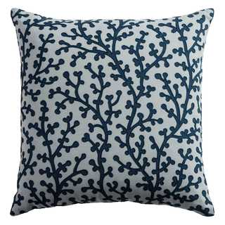Rizzy Home Coral Grey Cotton 18-inch Square Throw Pillow