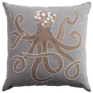 Rizzy Home Octopus Cotton Decorative Throw Pillow