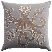 Rizzy Home Octopus Cotton Decorative Throw Pillow
