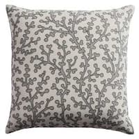 Rizzy Home Coral 18-inch x 18-inch Cotton Decorative Filled Throw Pillow