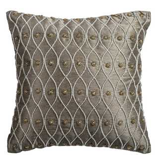 Rizzy Home Hand-beaded Ironwork Cotton 12-inch x 12-inch Decorative Filled Throw Pillow