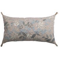 Rizzy Home Tan Floral Cotton 11 x 21 Throw Pillow