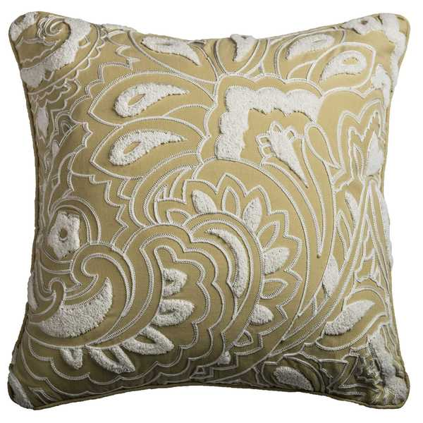 Rizzy Home Floral and Damask Cotton Decorative Throw Pillow