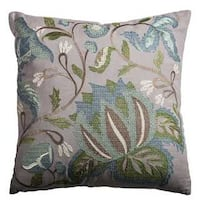 Rizzy Home Floral and Botanical Cotton 18-inch x 18-inch Decorative Filled Throw Pillow
