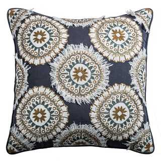 Rizzy Home Multicolor Cotton Medallion Throw Pillow