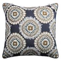 Rizzy Home Multicolor Cotton Medallion Throw Pillow