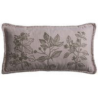 Rizzy Home Pink Cotton Floral Embroidery Throw Pillow