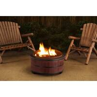 Sunjoy Alta 30 in Steel Fire Pit, with Faux Wood for a Quick Inexpensive Outdoor Remodel