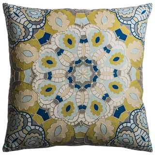 Rizzy Home Medallion 20 inch x 20 inch Decorative Filled Throw Pillow