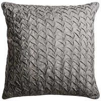 Rizzy Home Solid Grey Cotton 22-inch Square Throw Pillow