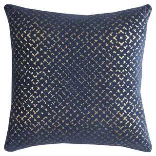 Link to Rizzy Home Geometric Navy Cotton 20-inch Square Throw Pillow Similar Items in Decorative Accessories