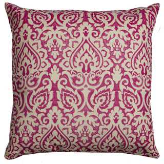 Rizzy Home Damask Cotton 22-inch x 22-inch Cotton Decorative Filled Throw Pillow