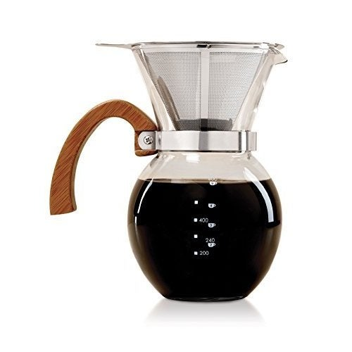 Pour Over 4-Cup Glass Coffee Maker (Clear)