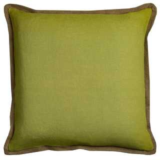 Rizzy Home Green Cotton 22 x 22 Solid Decorative Throw Pillow