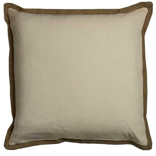 Rizzy Home Solid Off-white Cotton 22-inch Square Throw Pillow