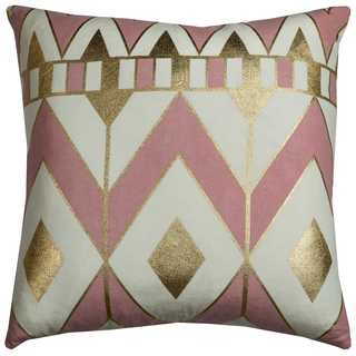 Rachel Kate by Rizzy Home Geometric 20-inch x 20-inch Cotton Decorative Filled Throw Pillow
