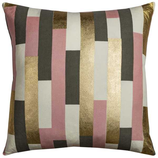 Rachel Kate by Rizzy Home Striped Cotton 20-inch x 20-inch Decorative Filled Throw Pillow