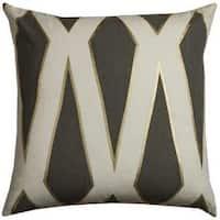 Rachel Kate by Rizzy Home Geometric Print Cotton 20 x 20 Throw Pillow