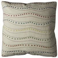 Rizzy Home Dotted Swirl Cotton 20 x 20 Throw Pillow