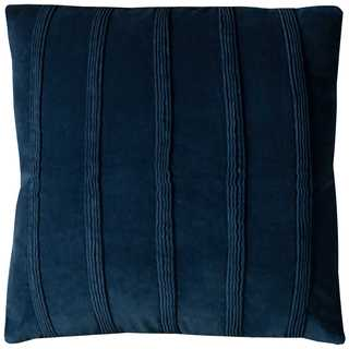 Rizzy Home Pintuck Strippes Cotton 22-inch x 22-inch Solid Decorative Filled Throw Pillow