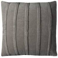Rizzy Home Pintuck Stripes Grey Cotton 22-inch Decorative Filled Throw Pillow