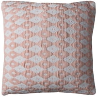 Rizzy Home Diamond Pattern Cotton 20-inch x 20-inch Decorative Filled Throw Pillow