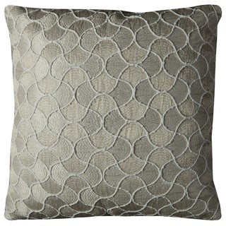 Rizzy Home Mermaid Tail Gold and Silver Cotton 20-inch x 20-inch Decorative Filled Throw Pillow